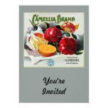 """Camellia Brand Oranges 5"""" X 7"""" Invitation Card"""