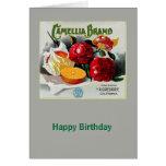 Camellia Brand Oranges Card