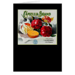 Camellia Brand Oranges Greeting Card