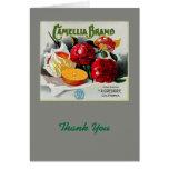 Camellia Brand Oranges Greeting Cards