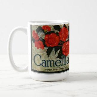 Camellia Brand Vintage Fruit Label Coffee Mug