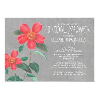 Camellia Bridal Shower Invitations
