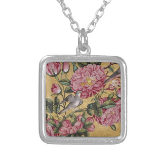 Camellia Charm Silver Plated Necklace