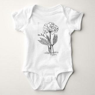 Camellia Drawing Baby Bodysuit