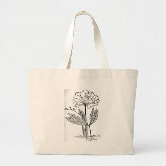 Camellia Drawing Large Tote Bag