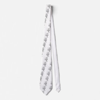Camellia Drawing Tie