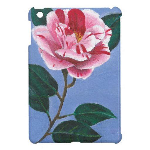 Camellia Flower Painting Case For The iPad Mini