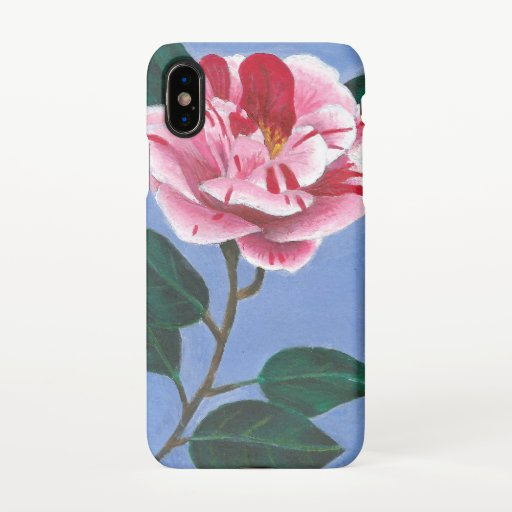 Camellia Flower Painting iPhone X Case