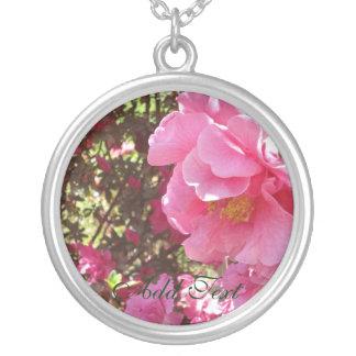Camellia I Round Pendant Necklace