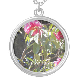 Camellia II Round Pendant Necklace