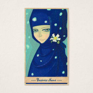 Camellia Ikeda Shuzo oriental lady girl painting Business Card