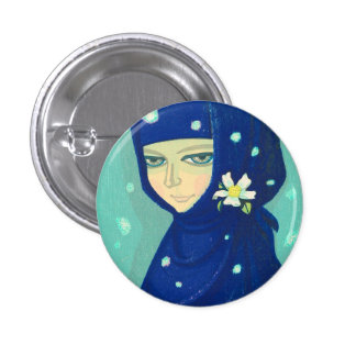 Camellia Ikeda Shuzo oriental lady girl painting 1 Inch Round Button