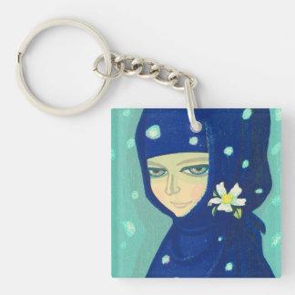 Camellia Ikeda Shuzo oriental lady girl painting Keychain