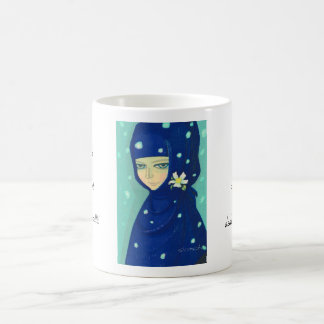 Camellia Ikeda Shuzo oriental lady girl painting Classic White Coffee Mug