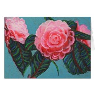 Camellia Japonica Sky zazzle_card