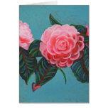 Camellia Japonica Sky Greeting Card