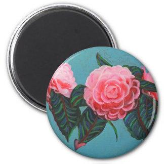 Camellia Japonica Sky Refrigerator Magnet