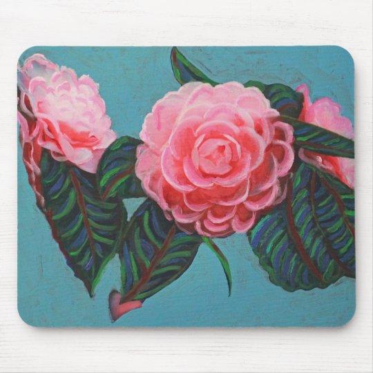 Camellia Japonica Sky Mouse Pad