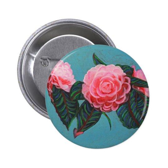 Camellia Japonica Sky Pinback Button