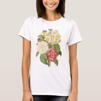 camellia, narcissus, pansy by Redouté T-Shirt