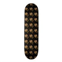 Camellia Pattern Skateboard Deck
