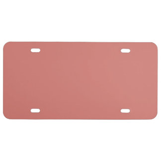 Camellia Pink in an English Country Garden License Plate
