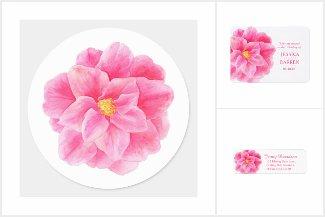 Camellia pink wedding