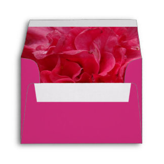 Camellia Rosy Red Ruffled Envelope