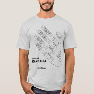 "CAMELLIA - ""The hand T-shiyatsu of machine"" T-Shirt"