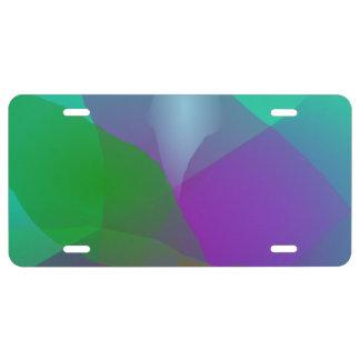 Camellia Translucent Green License Plate