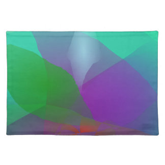 Camellia Translucent Green Cloth Placemat