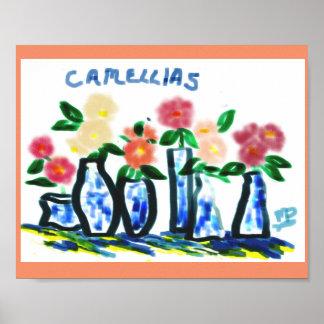 Camellias Digital Art Poster