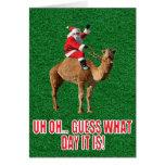 Camello 2013 del día de chepa del navidad y tarjetón