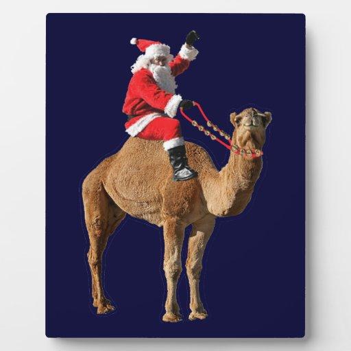 Camello 2013 y Santa del día de chepa del navidad Placas De Plastico