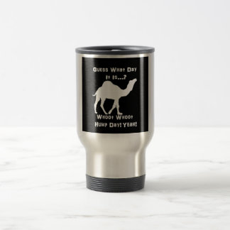 Camello blanco del día de chepa taza de viaje