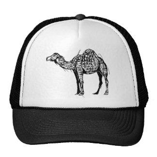 Camello cifrado gorras