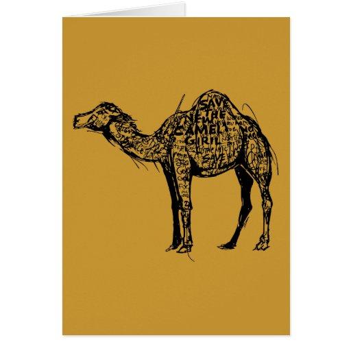Camello cifrado tarjeta de felicitación