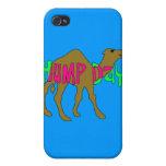 Camello con día de chepa en rosa y verde iPhone 4 cobertura