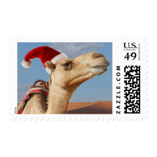 camello con el gorra del navidad sellos