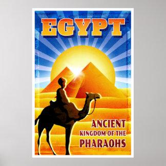 Camello de Egipto y viaje del vintage de las Póster