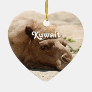 Camello de Kuwait Adorno Navideño De Cerámica En Forma De Corazón