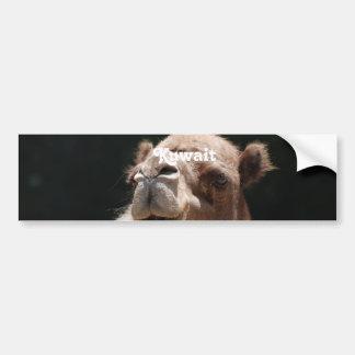 Camello de Kuwait Etiqueta De Parachoque