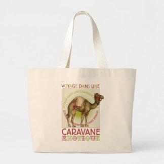 Camello de la caravana bolsa tela grande