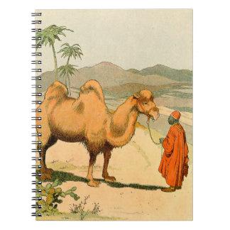 Camello de la Doble-Chepa en el desierto mongol Cuaderno