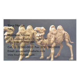 Camello de madera tallado tarjeta personal