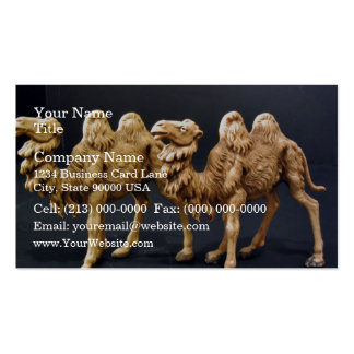 Camello de madera tallado tarjetas de visita