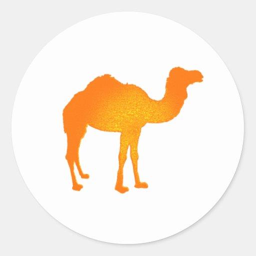 Camello de Sun Pegatina Redonda