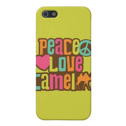Camello del amor de la paz iPhone 5 cárcasas