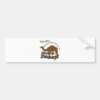 ¡Camello del día de chepa! Etiqueta De Parachoque