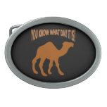 Camello del día de chepa del DÍA de CHEPA Hebilla Cinturón Oval